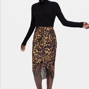 Zara cheetah skirt